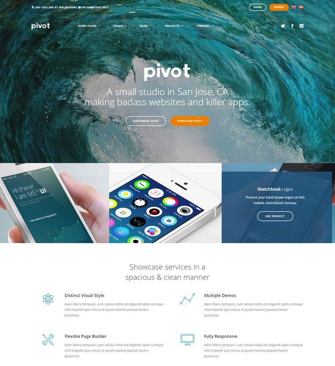 Pivot Agency HTML with Page Builder