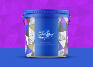 Plastic Bucket Psd Mockup