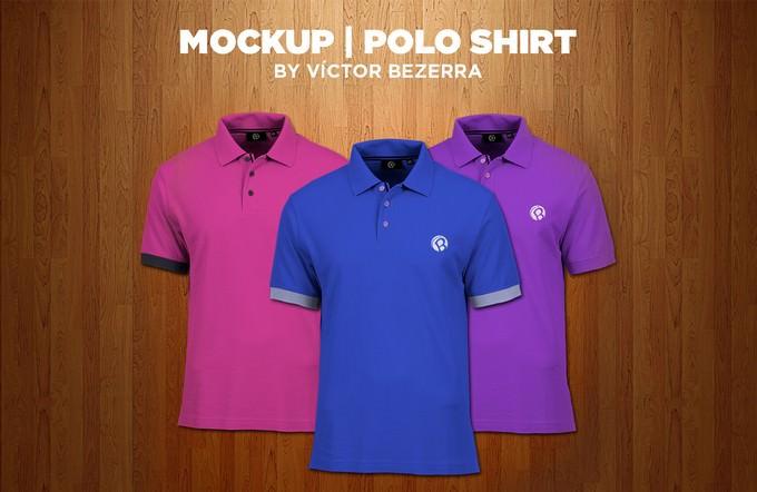Polo Shirt Free PSD Mockup