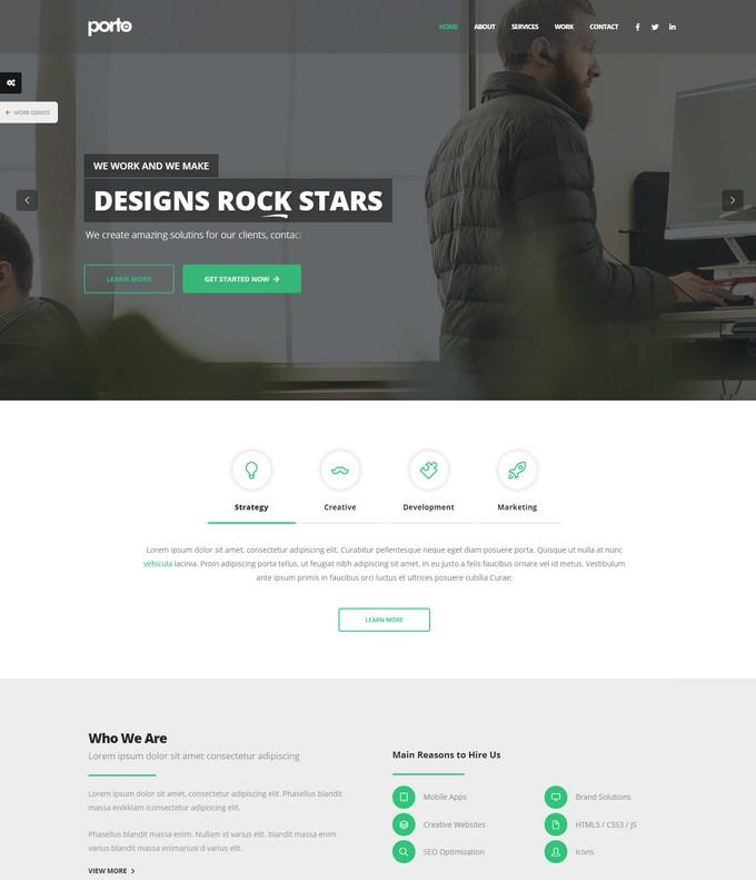 Porto - Responsive Agency HTML5 Template