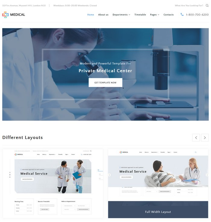 Private Medical Center Multipage HTML5 Template