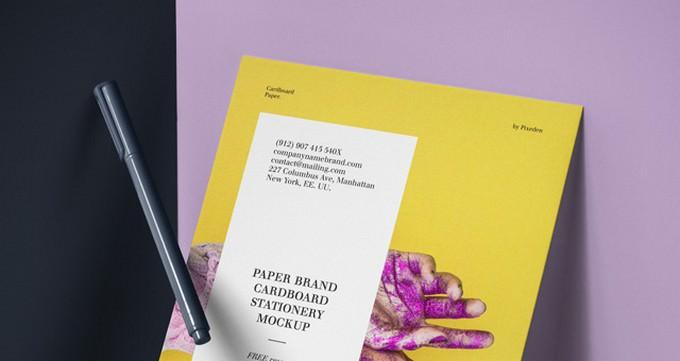 Psd Paper Brand Mockup Vol6
