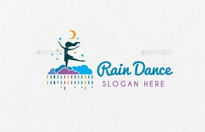 Rain Dance Logo Template