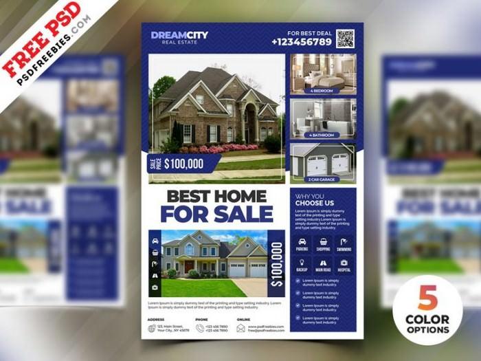 Real Estate Flyer Design PSD