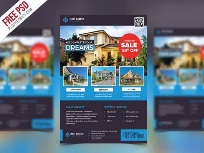 Real Estate Flyer PSD