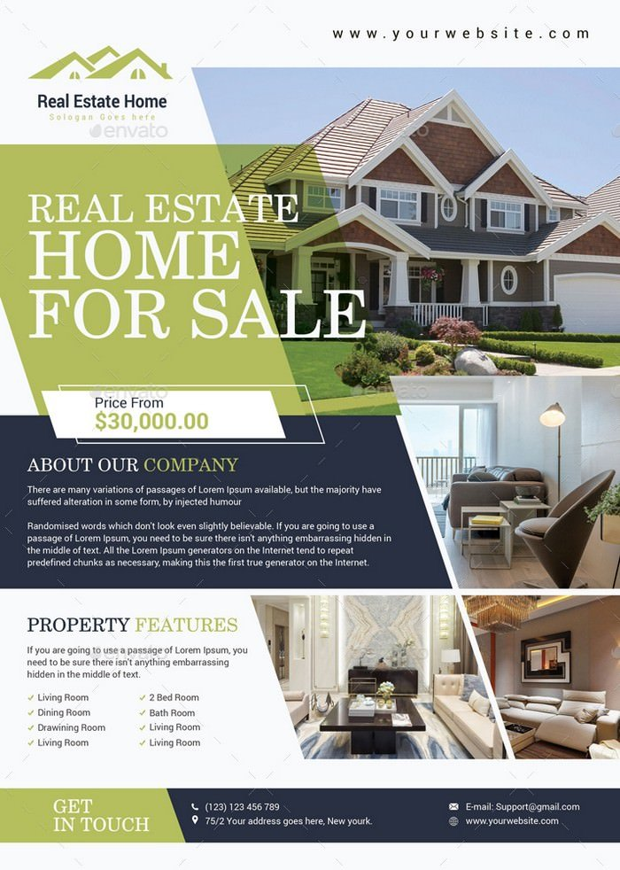 Real Estate Flyer Template # 2