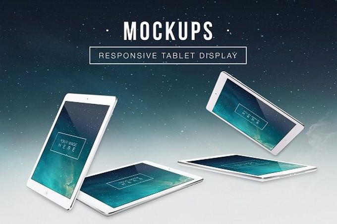 Responsive Tablet Display Mockups