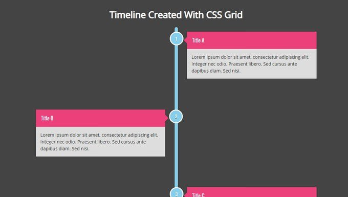 Responsive Timeline using CSS Grid