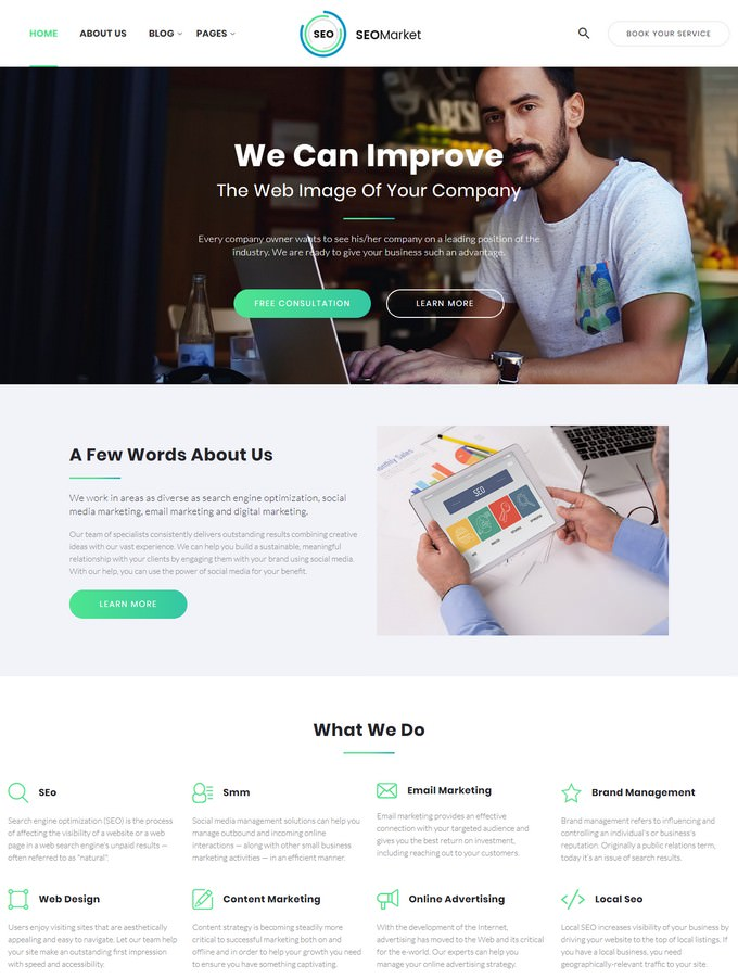 SEOMarket - SEO & Marketing Agency Website Template
