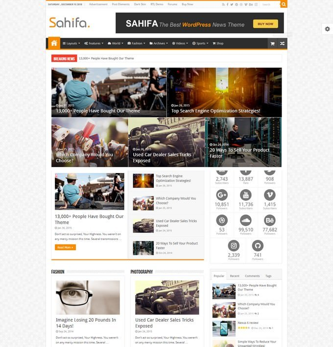 Sahifa - Responsive WordPress Theme