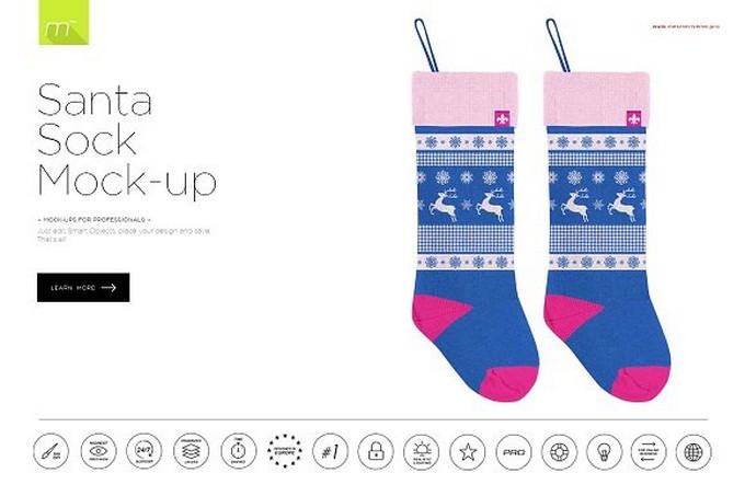 Santa Sock Mock-up