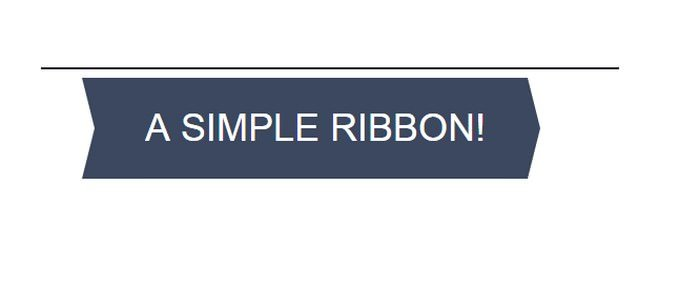 Simple CSS Ribbon