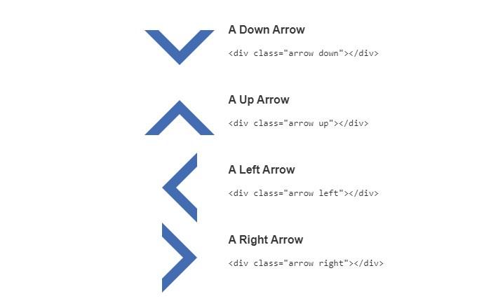 Single Element CSS Arrows