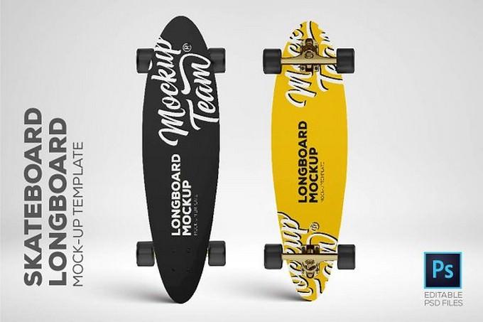 Skateboard - Longboard Mockup Temp