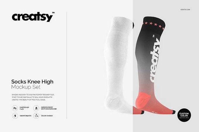 Socks Knee High Mockup Set