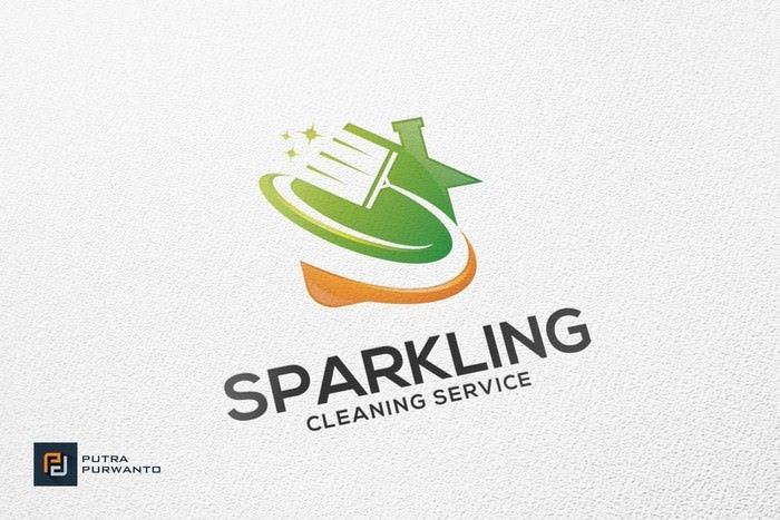 Sparkling Cleaning - Logo Template