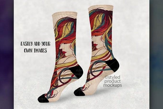 Sublimation Sock Mockup