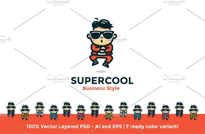 Supercool Business Style Logo