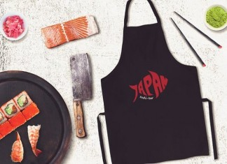 Sushi Bar Apron Mock-up #8