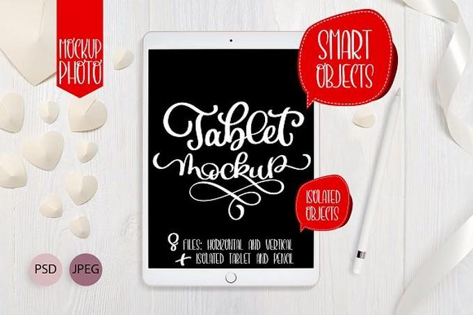 Tablet iPad Pro Mock Up Set
