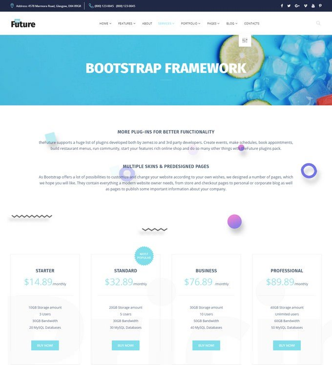 The Future - Web Design Multipurpose HTML5 Website Template