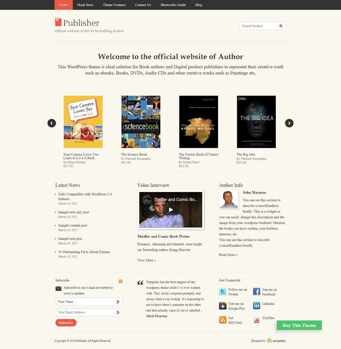 The Publisher WordPress Theme