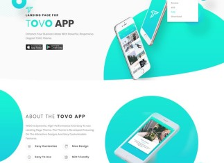 Tovo - Angular 7 and Angular 6 App Landing Page