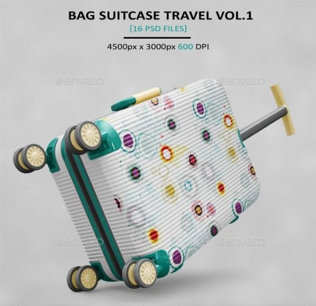 Travel Bag Suitcase MockUp