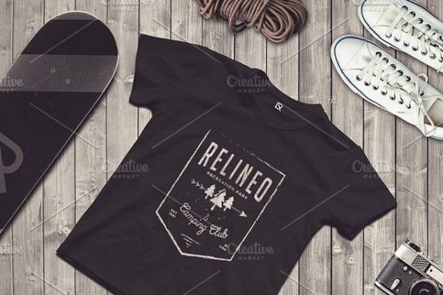 Travel Scene T-shirt Mock-up #19