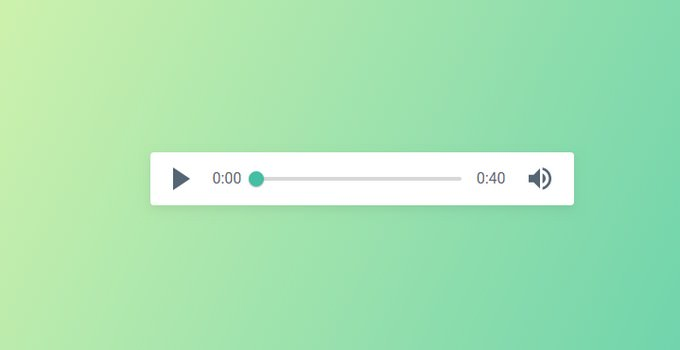 UI Green Audio Player