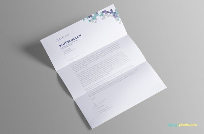 US Letter Paper Mock-Up Free