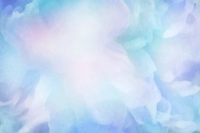 Vibrant Blue watercolor Painting Background