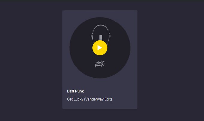 Visual Music Player - UI experiment/concept