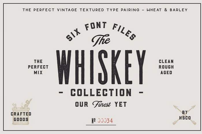 Whiskey Font Collection