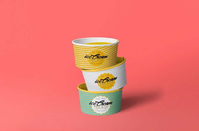 Yummy Ice Cream Cup Mockup Free