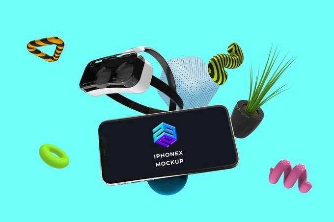 iPhone X VR Mockup - MK