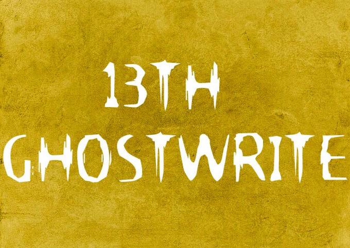 13th Ghostwrite Font