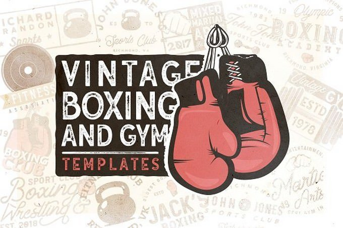 20 Vintage Boxing & Gym Logos