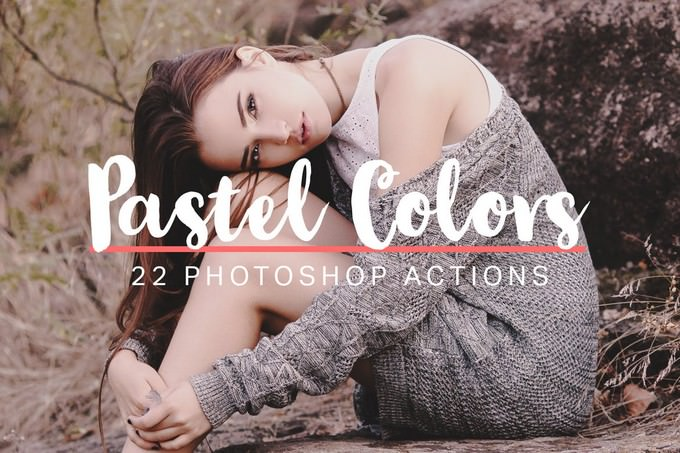 22 Soft Pastel Photoshop Actions