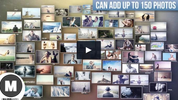 3D Photos – After Effects Slideshow Template