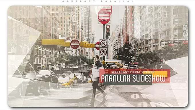 Abstract Parallax– After Effects Slideshow Template