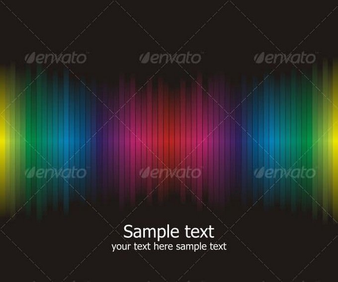 Abstract Rainbow Colours Background # 2