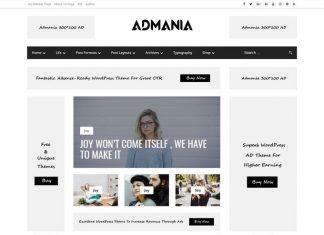Admania - AD Optimized WordPress Theme For Adsense & Affiliate Enthusiasts