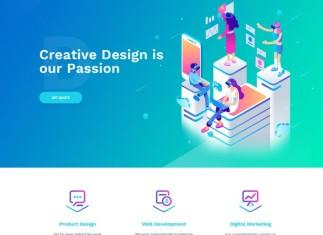 Agmycoo - Isometric Creative Digital Agency Portfolio WordPress Theme
