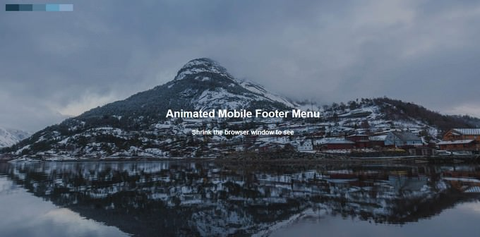Animated Mobile Footer Menu