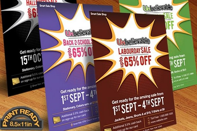 Any Event Day Sale Flyer, Poster