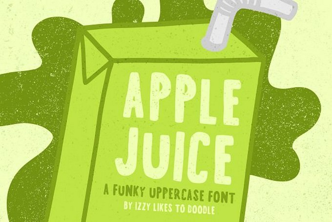 Apple Juice - A Funky Uppercase Font