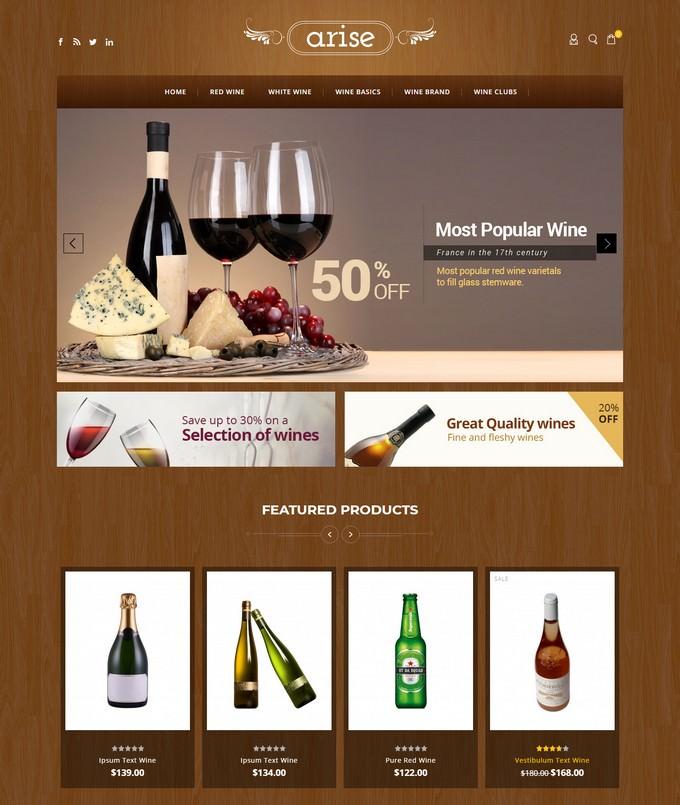 Arise - Wine Magento Responsive Theme