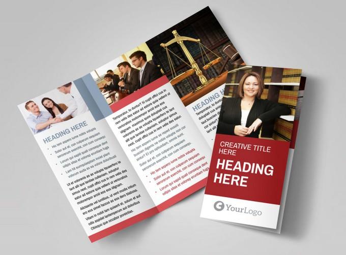 Attorney & Legal Service Brochure TemplateAttorney & Legal Service Brochure Template