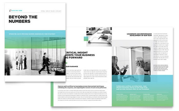 Auditing Firm Brochure Template